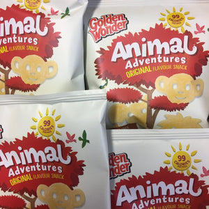 12x Golden Wonder Animal Adventures Original Flavour Snacks (12x18.9g)