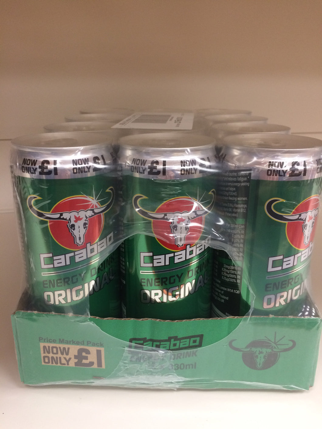Carabao Energy Drink Original Case of 12x 330ml
