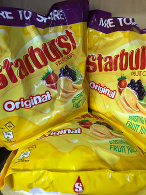 1KG of Starburst Fruit Chews Original Large Pouch (3x350g)