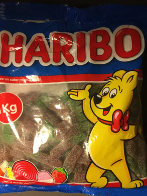 1Kg of Haribo Sweet Fizzy Cola Bottles (1x 1Kg Bag)
