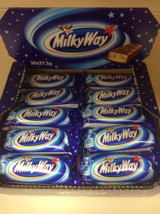 MilkyWay Box of 30x Chocolate Bars 21.5g