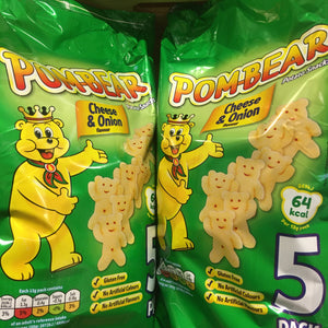 10x Pom-Bear Cheese & Onion Crisps (2 Packs of 5x13g)