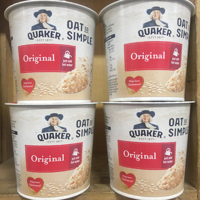 4x Quaker Oat So Simple Original Pots (4x45g)