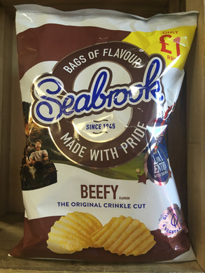 Seabrook Beefy Flavour Crinkle Cut Crisps Sharing Bag 80g