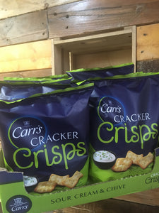 10x Packets of Carr's Cracker Crisps Sour Cream & Chive (10x150g)