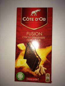 Cote D'Or Fusion Lemon & Ginger Belgian Dark Chocolate 150g