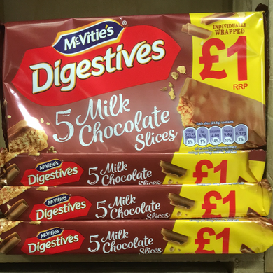 20x McVitie's Digestives Slices (4 Packs of 5 Slices)