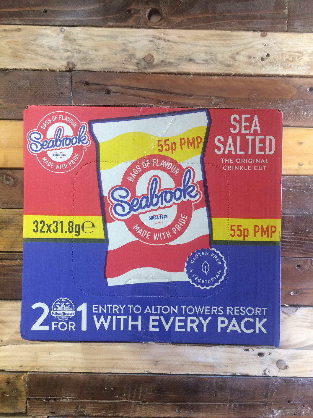 Seabrook Sea Salted Crisp Box 32x Bags (31.8g)