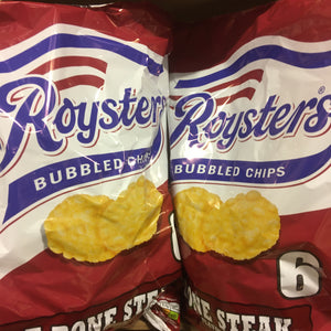 12x Roysters T-Bone Steak Crisps (2 Packs of 6X21g)