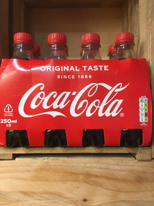 8x Coca-Cola Coke Original 250ml