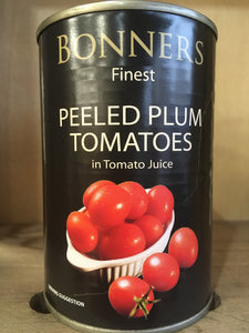 Bonners Finest Peeled Plum Tomatoes 400g