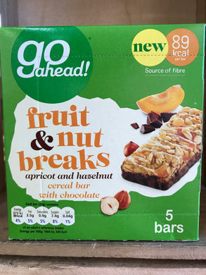 Go Ahead Fruit & Nut Breaks Apricot and Hazelnut 5x20g Bar