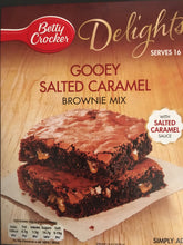 Betty Crocker Delights Gooey Salted Caramel Brownie Mix 430g (Damaged Box)