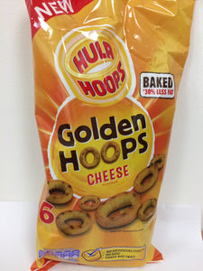 Hula Hoops Golden Hoops Cheese Flavour 6x 25g Bags