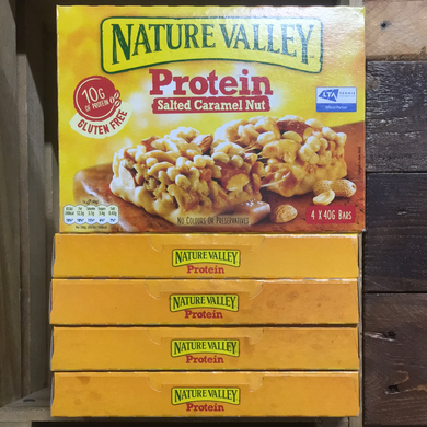 20x Nature Valley Protein Salted Caramel Nut Cereal Bars (5 Packs of 4x40g Bars)