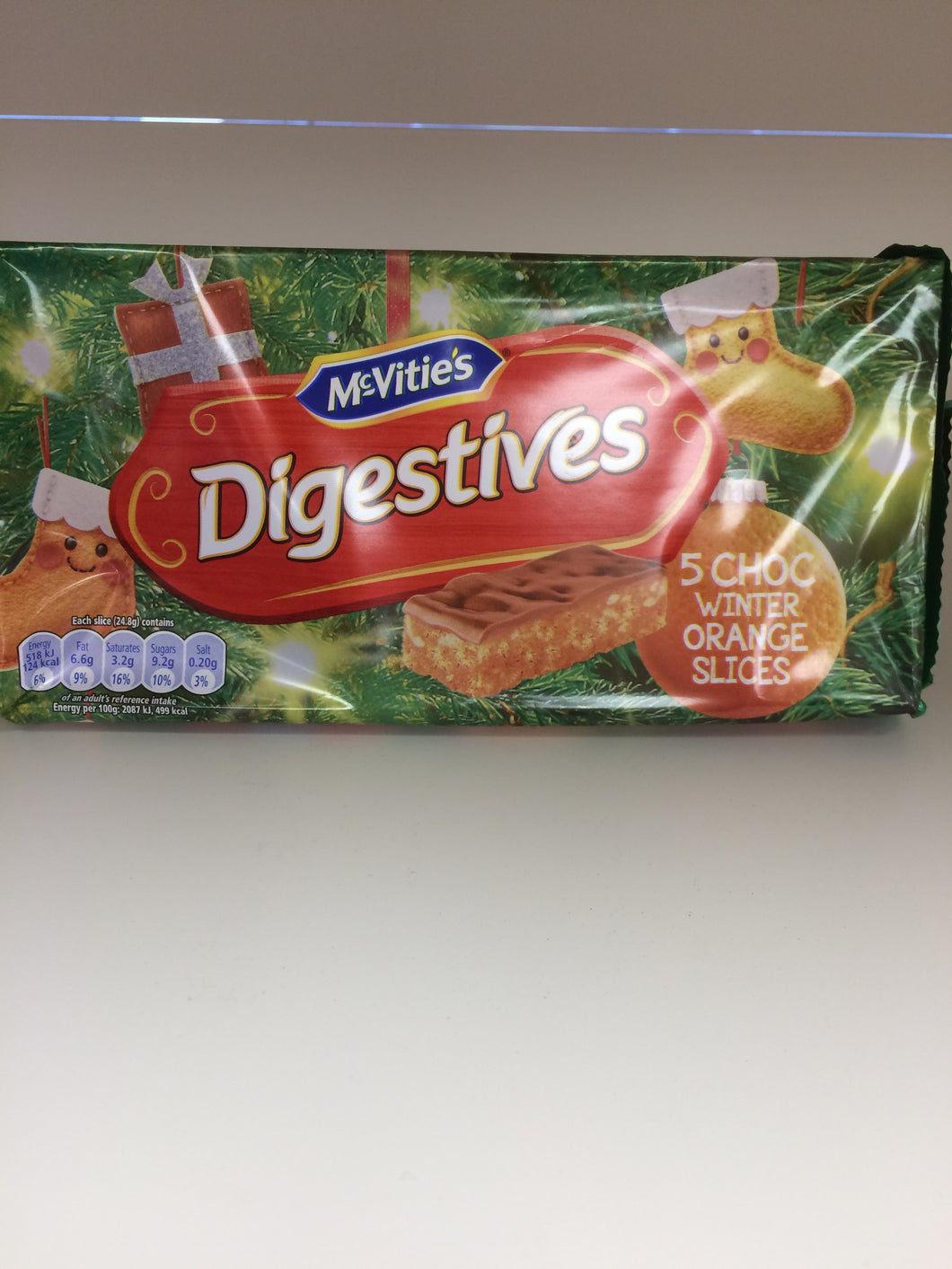 McVities Digestive Choc Winter Orange Slices 5 pack