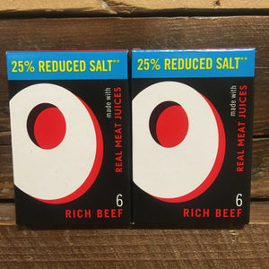 12x Oxo Premium Beef Reduced Salt Stock Cubes (2 Packs of 6x Cubes)