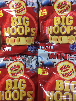 18x Hula Hoops Big Hoops Original Potato Rings Grab Bag (18x50g)