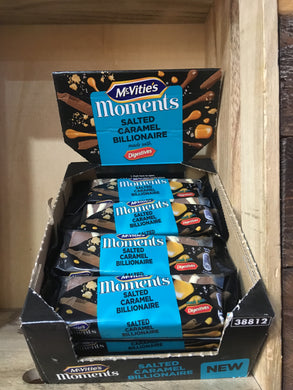 12x McVitie's Moments Salted Caramel Billionaire Slice 54g