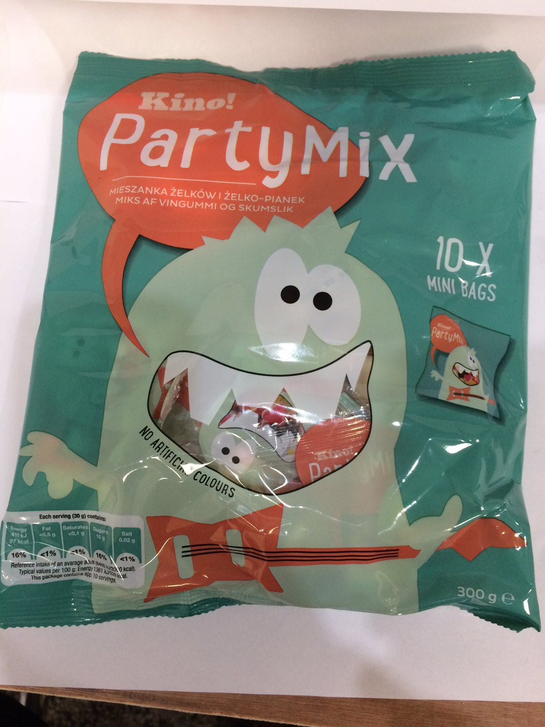 Kino! Sweets Party Mix 10x 30g Mini Bags - No Artificial Colours 300g