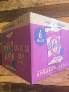36x Seabrook Canadian Ham Crisps 36x25g (6x6 Packs)