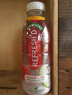 Robinsons Refresh'd Raspberry & Apple Spring Water 500ml