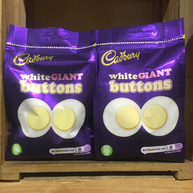 4x Cadbury White Chocolate Giant Buttons (4x110g)