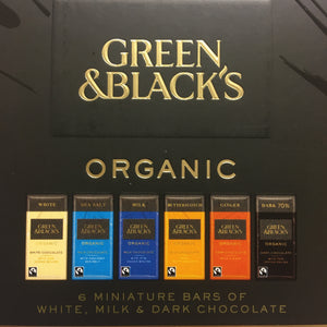12x Green & Black's Miniature Treat Chocolate Bars Collection (2 Boxes of 6xBars)