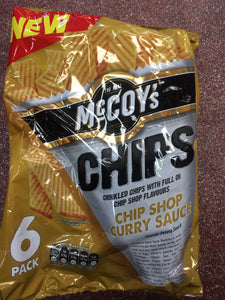 McCoy's Chip Shop Curry Sauce Flavour Crisps 6x 25g Pack