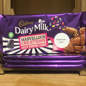 4x Cadbury Dairy Milk Marvellous Creations Jelly Candy Bars (4x180g)