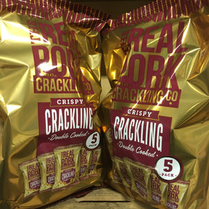 10x The Real Pork Crackling Co. Crispy Pork Crackling (2 Packs of 5x15g)