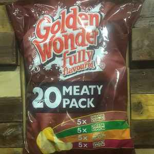 Golden Wonder 20 Pack Meaty Crisps (20x25g)