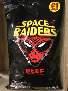 12x Space Raiders Beef Flavour Cosmic Corn Snacks 86.5g