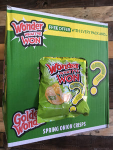 24x Golden Wonder Spring Onion Flavour Crisps (24x32.5g)