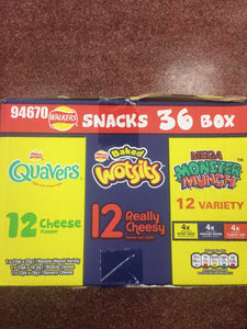 Walkers Snacks 36 bag Variety Box