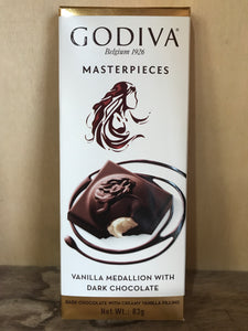 Godiva Vanilla Medallion with Dark Chocolate 83g