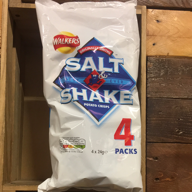Walkers Smiths Salt & Shake Crisps 4 Pack (4x24g)