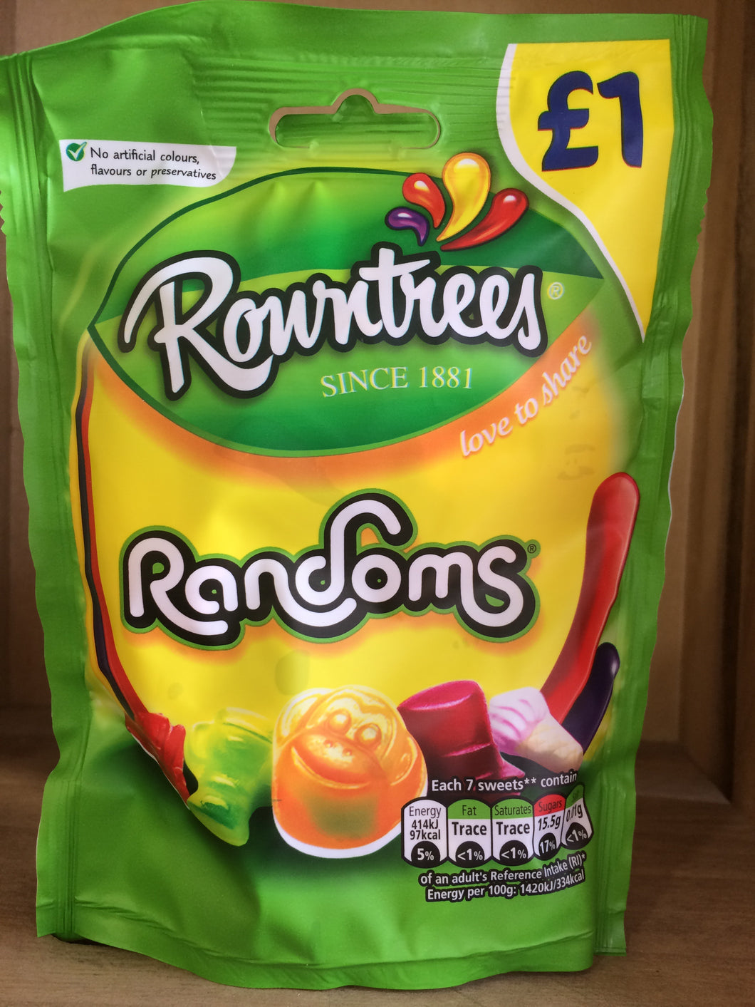 Rowntrees Randoms Pouch Bag 120g