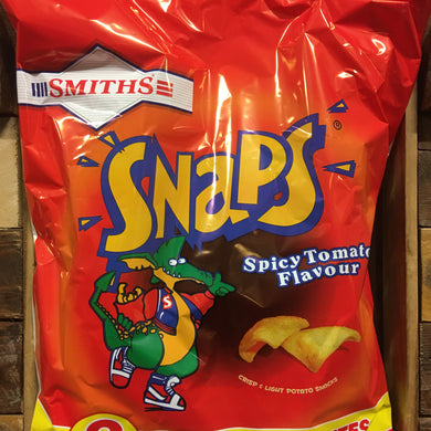 24x Smiths Snaps Spicy Tomato Snacks (3 Packs of 8x13g)