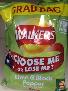 Walkers Lime & Black Pepper 50g Bag