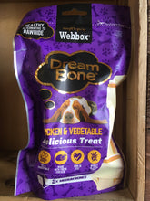 18x Webbox Dream Bones Chicken & Vegetable 9x Packs of 2x Medium Bones