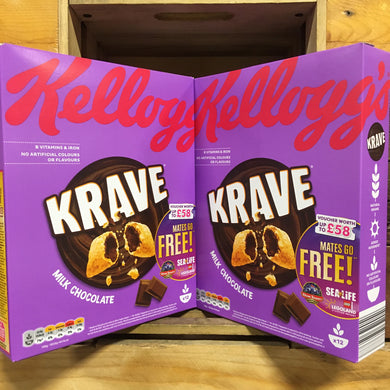 2x Kellogg's Krave Milk Chocolate Cereal (2x375g)
