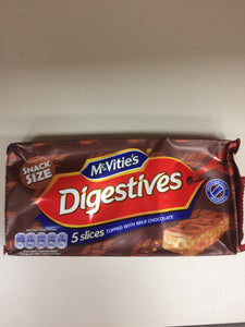 McVities Digestives 5 Slices Topped with Chocolate 114g PM£1