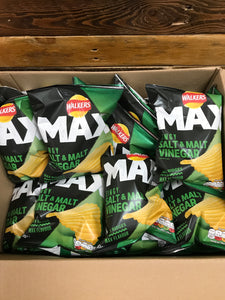 12x Walkers Max Salt & Vinegar Crisps (12x50g)