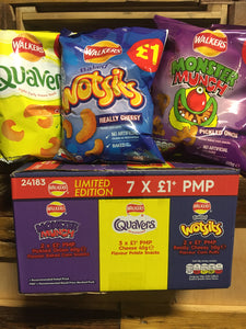 Walkers 7x Share Bags (3x Quavers, 2x Wotsits & 2x Monster Munch)