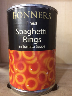 Bonners Finest Spaghetti Rings in Tomato Sauce 395g