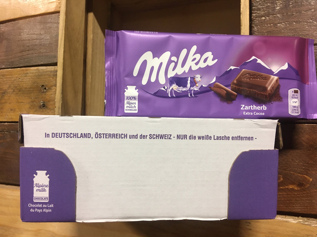 23x Milka Milk Chocolate with Extra Cocoa bars (23x100g)