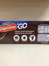 McVitie's Digestives To Go Dark Chocolate Twin Pack Biscuits 6x 33.3g
