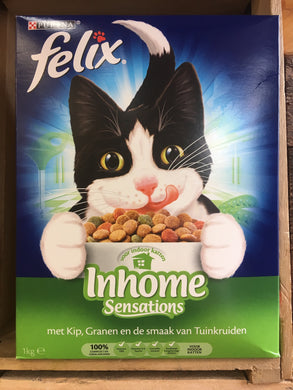 Felix Indoor Sensations Chicken, Grain and Garden Vegetables Dry Cat Food 1Kg