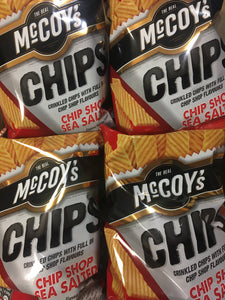 4x McCoy's Chips Chip Shop Sea Salted Share Bags (4x130g)